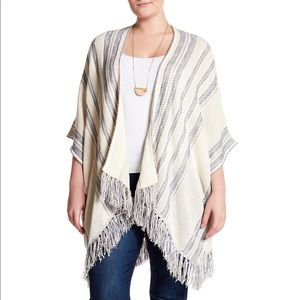 Lucky Brand Emotional Woven Poncho Cardigan